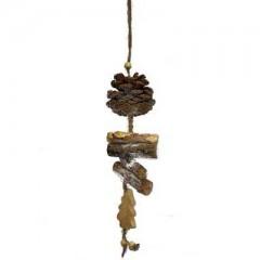 Στολίδι με φυσικά υλικά & δεντράκι 35cm
