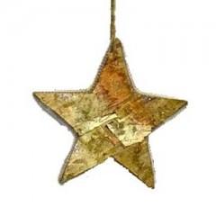 Ξύλινο συμπαγές αστέρι από φλοιό 22cm