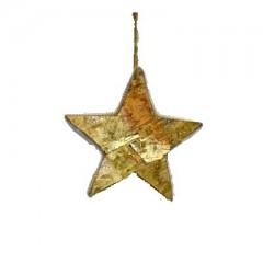 Ξύλινο διακοσμητικό αστέρι από φλοιό 15cm