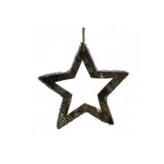 Ξύλινο διακοσμητικό αστέρι από φλοιό 16cm