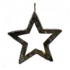 Ξύλινο διακοσμητικό αστέρι από φλοιό 22cm