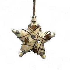 Ξύλινο διακοσμητικό αστέρι από φλοιό 30cm