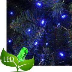 80 Λαμπάκια LED Επεκτεινόμενα Πράσινο καλώδιο - Μπλε λαμπάκι