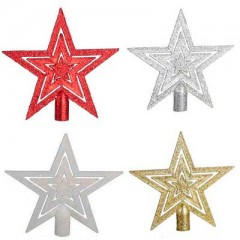 Αστέρι κορυφή τρισδιάστατο σε Τέσσερα χρώματα