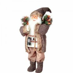 Άγιος Βασίλης 60cm με καφέ παλτό