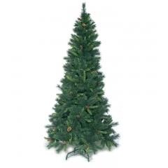 Δέντρο Smoky tree 210cm στενό με πευκοβελόνα και κουκουνάρια