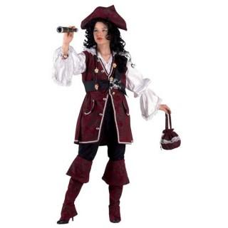 Πειρατίνα Των 7 Θαλασσών στολή Lux για κορίτσια η Ατρόμητη Κουρσάρισσα