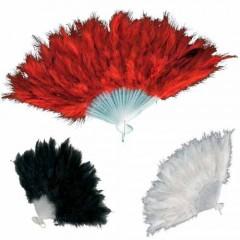Βεντάλια με φτερά μποά σε τρία χρώματα