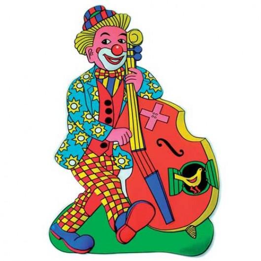 Ντεκόρ Τοίχου Κλόουν Με Βιολοντσέλο