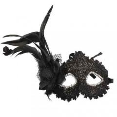 Μάσκα Ματιών Υφασμάτινη Με Λουλούδι Και Φτερό
