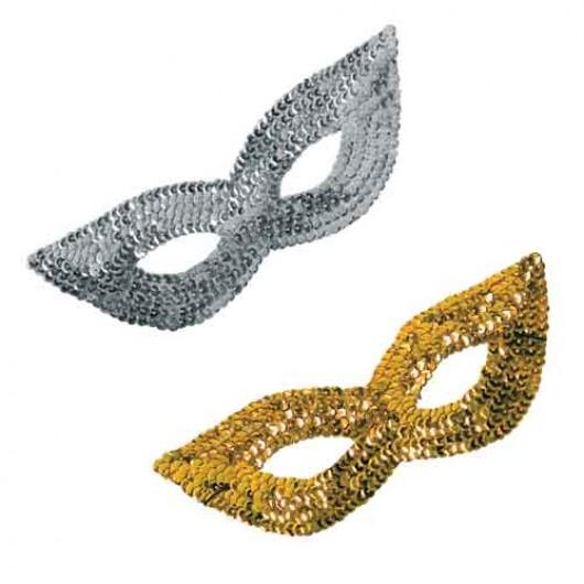 Μάσκα Ματιών Με Πούλιες χρυσή και ασημένια
