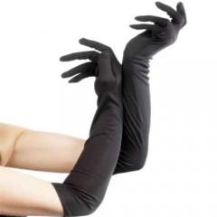 Γάντια Μακριά Μαύρα 40cm