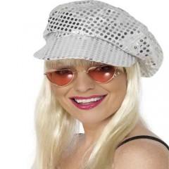 Καπέλο Disco με πούλιες ασημένιο