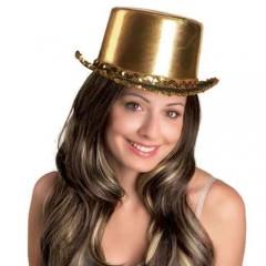 Καπέλο Ημίψηλο  Σατέν χρυσό
