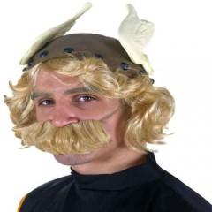 Καπέλο Περικεφαλαία Αστερίξ Με Περούκα Και Μουστάκι