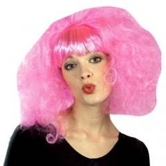 Περούκα Ροζ Lolipop Με Αφέλειες