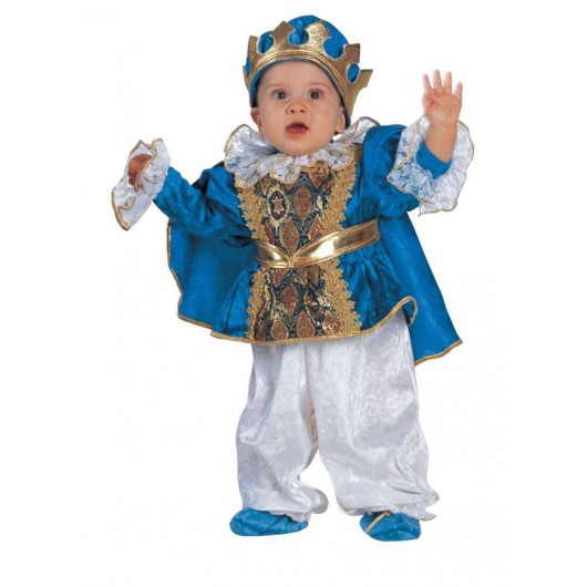 Μικρός βασιλιάς μπεμπέ στολή σε μπλε χρώμα