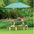 Gleneagles Στρογγυλό τραπέζι εξοχής με 8 ενσωματωμένα καθίσματα