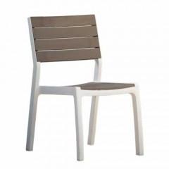 Harmony Καρέκλα Πολυπροπυλενίου με φινίρισμα wood look