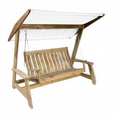 Τριθέσια κούνια Farmer Swing με οροφή από τεντόπανο