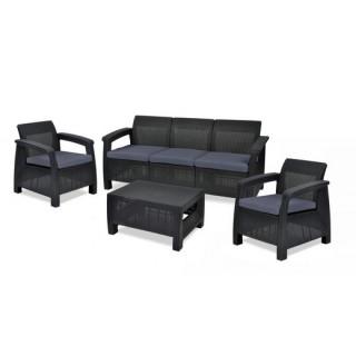 Corfu triple set σαλόνι με τριθέσιο καναπέ σε 4 αποχρώσεις