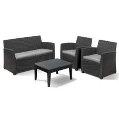 Corona lounge set σαλόνι με διθέσιο καναπέ σε τρία χρώματα