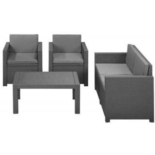 Victoria lounge set σαλόνι σε δύο χρώματα ρητίνης πολυπροπυλενίου