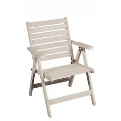 Apollo λευκή πολυθρόνα 3 θέσεων με χαμηλή πλάτη από ξύλο οξιάς