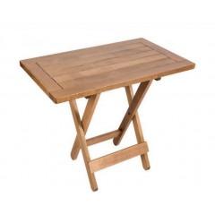 Ήρα Τραπέζι ξύλο οξιάς με πλαίσιο 85x50cm καρυδί χρώμα