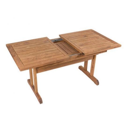 Φοίβος τραπέζι επεκτεινόμενο από ξύλο οξιάς 145x83~190cm καρυδί