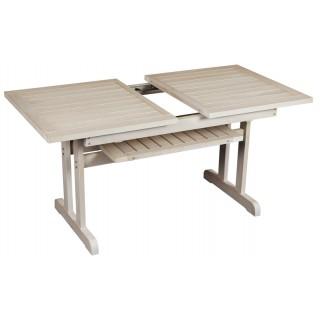 Φοίβος τραπέζι επεκτεινόμενο  από ξύλο οξιάς 145x83~190cm λευκό