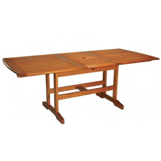 Επεκτεινόμενο 140~180X90cm Τραπέζι κήπου από ξύλο ακακίας