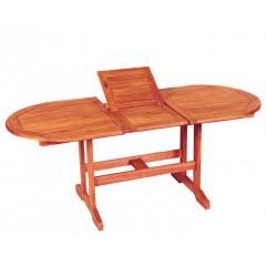Οβάλ Επεκτεινόμενο Τραπέζι 120x70~160cm ξύλο ακακίας