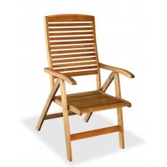 Ψηλόπλατη ξύλινη Πολυθρόνα 5 θέσεων ακακίας