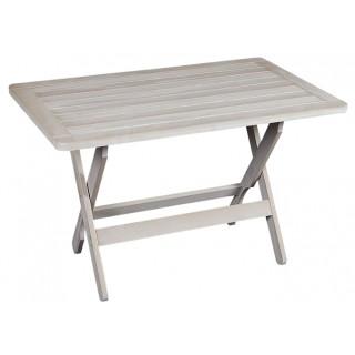 Ναυσικά Τραπέζι οξιάς με πλαίσιο 120x75cm πτυσσόμενο λευκό