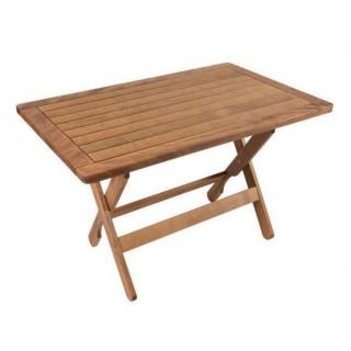 Ναυσικά Τραπέζι οξιάς πλαίσιο 120x75 cm πτυσσόμενο καρυδί