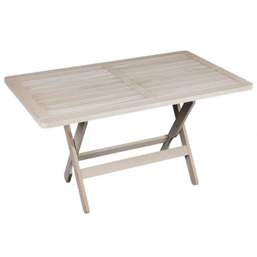 Ναυσικά τραπέζι ξύλινο οξιάς με πλαίσιο 140x85cm λευκό
