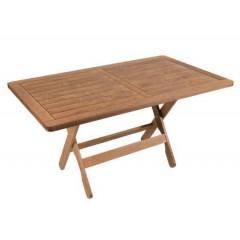 Ναυσικά Τραπέζι ξύλινο οξιάς πλαίσιο 140x85 cm καρυδί