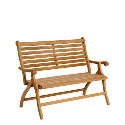 Διθέσιος καναπές πτυσσόμενος από ξύλο roble teak