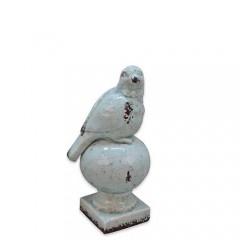 Κεραμικό Διακοσμητικό Πουλάκι Aqua 24cm