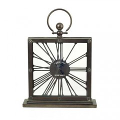 Ρολόι μεταλλικό επιτραπέζιο με λατινικούς αριθμούς