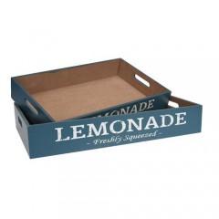 """Δίσκοι Σετ 2 τεμ.""""Lemonade"""" σε Μπλε χρώμα"""