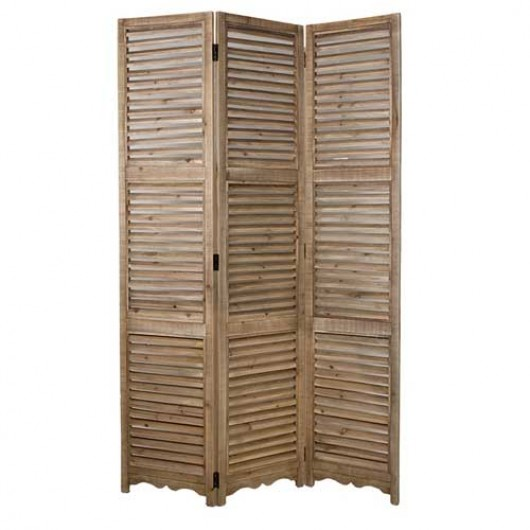 Ξύλινο παραβάν με γρίλιες φυσικό 120x180cm