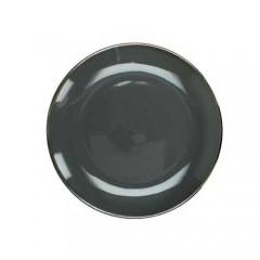 Πιάτο stoneware εμαγιέ φινίρισμα σκούρο γκρι 19cm