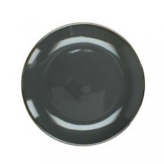 Πιάτο stoneware εμαγιέ φινίρισμα σκούρο γκρι 27cm