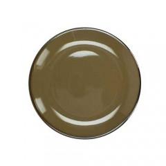 Πιάτο stoneware εμαγιέ φινίρισμα καφέ 19cm