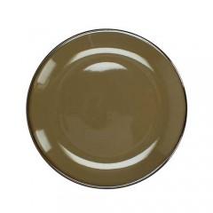 Πιάτο stoneware εμαγιέ φινίρισμα καφέ 27cm