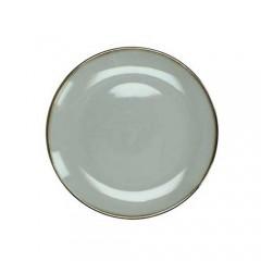 Πιάτο stoneware εμαγιέ φινίρισμα ανοιχτόχρωμο γκρι 19cm
