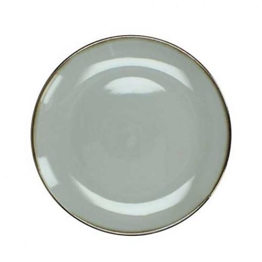 Πιάτο stoneware εμαγιέ φινίρισμα ανοιχτόχρωμο γκρι 27cm