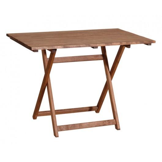 Ξύλινο Παραληλόγραμμο Πτυσσόμενο Τραπέζι Οξυά 60(W) x 100(L) x 72(H)cm